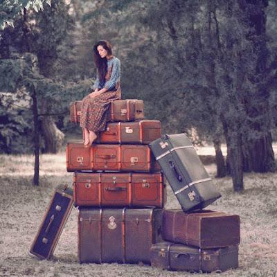 Fotografia con maletas