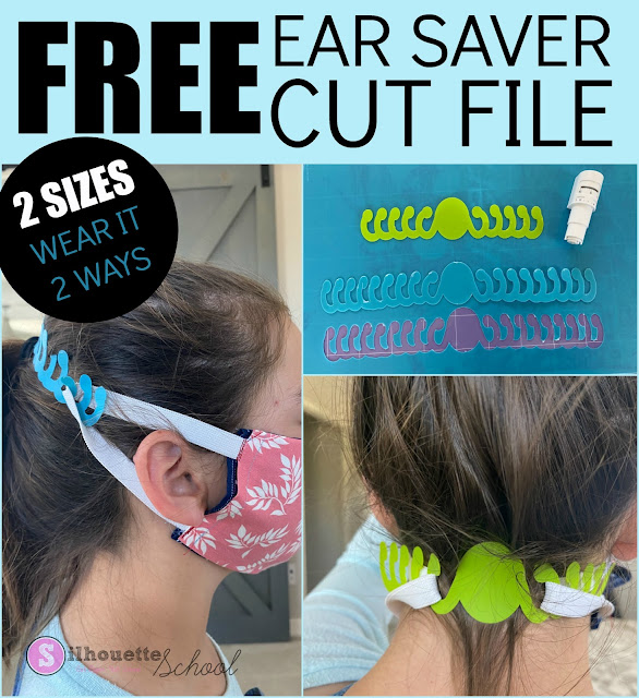 Freebie Friday, Ear Saver, Free Studio Files, Silhouette Cameo 3, Silhouette Cameo 4