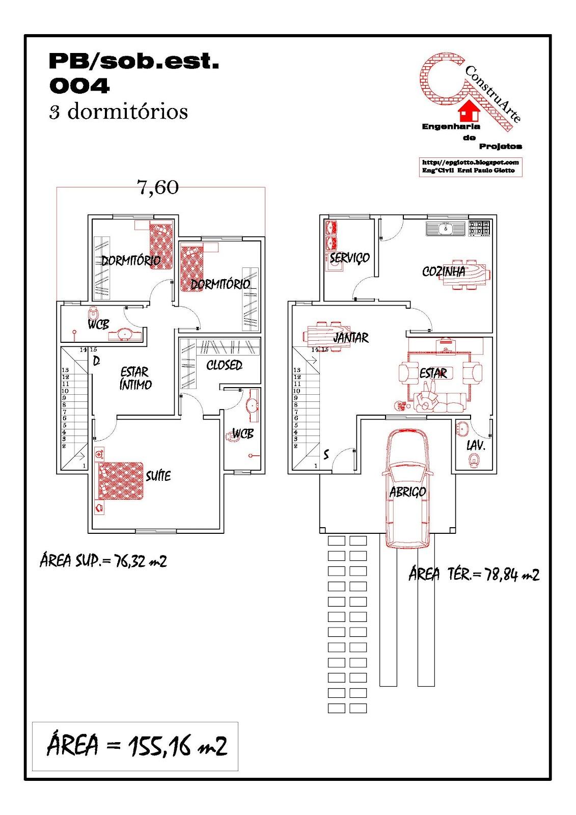de Planta Baixa Modelos de Sobrados Planta de casa projeto  #B81313 1131 1600
