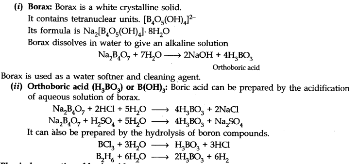notes of p block elements class 11