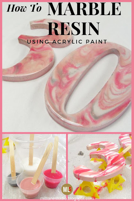 Pink marbling how to sheet