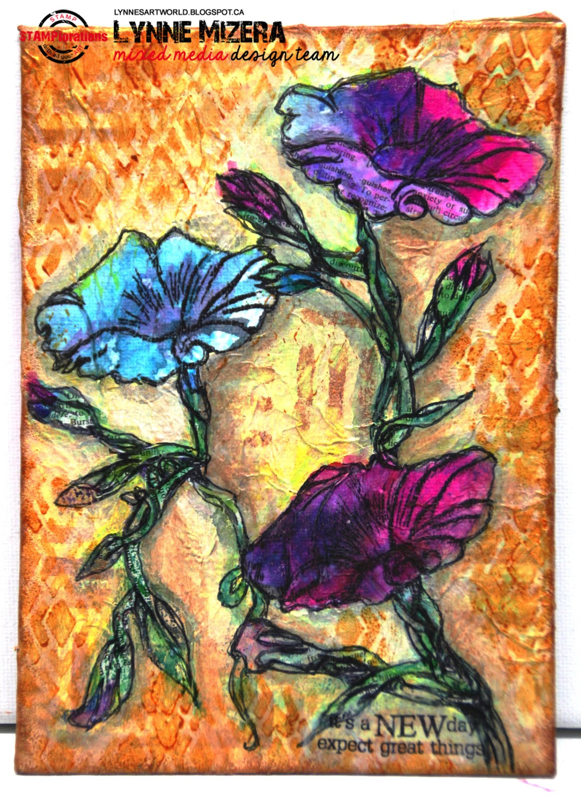 Stamplorations Blog Mixed Media Tutorial A Canvas Full