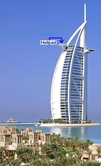 Helipad of Burj Al Arab