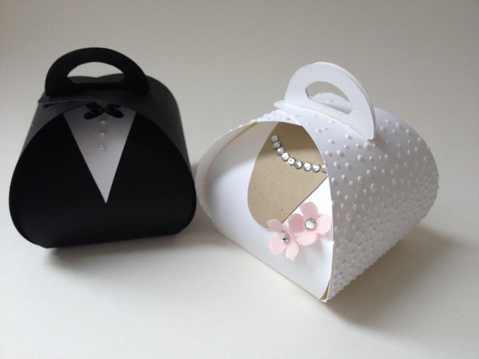Stempellicht: Geschenk für Hochzeit mit Zierschachtel....
