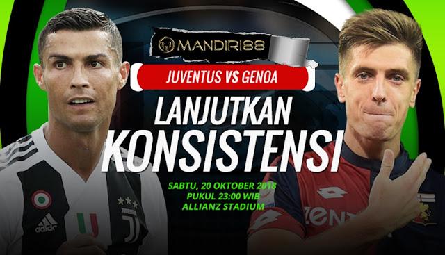 Prediksi Juventus Vs Genoa, Sabtu 20 Oktober 2018 Pukul 23.00 WIB