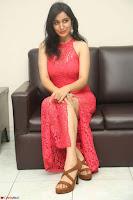Sakshi Kakkar in Red Legsplit Sleeveless Gown at Dare movie Press meet ~  Exclusive 079.JPG