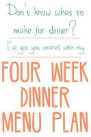4 week menu plan
