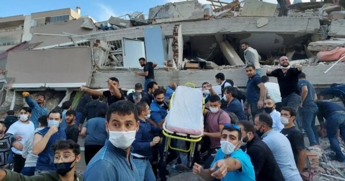Huge Earthquake Hits Turkey And Greece Causing Buildings To Collapse, Killing 2 On The Island Of Samos And 6 In Izmir
