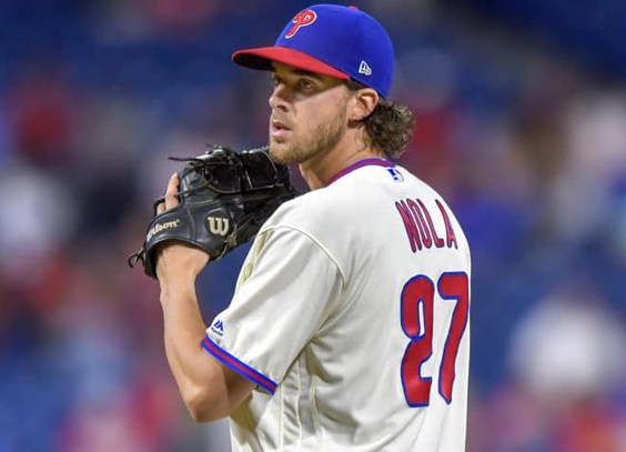 Nola on the mound as the Phillies face the Yankees