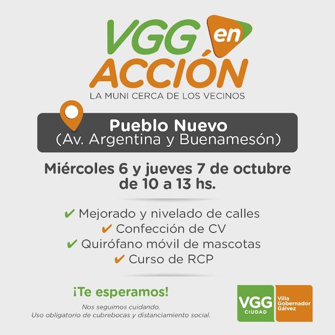 """""""VGG en Acción"""" estará en barrio Pueblo Nuevo este miercoles y Jueves"""