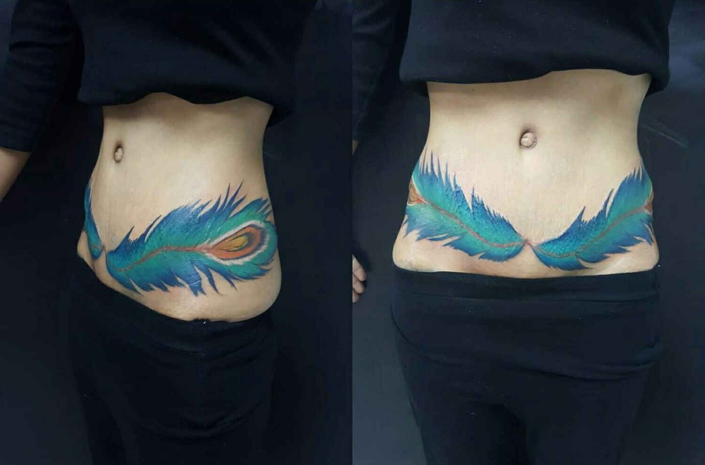 C-Section Scars & Stretch Marks Cover Up Tattoo by Joel Rocafort ...