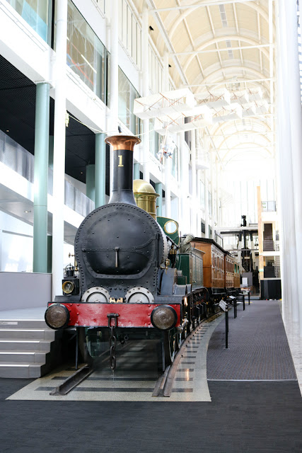 Old Steam Train inside the Powerhouse Museum, MAAS Sydney
