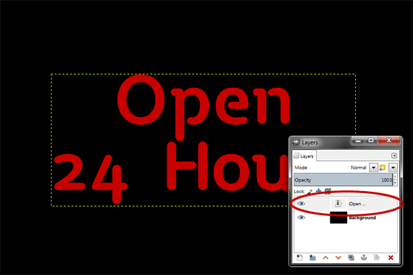 Photo Effect: How To Create Neon Text In GIMP