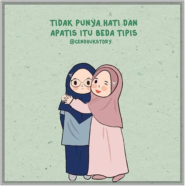 Gambar Kartun Muslimah Lucu Cantik dan Imut Terbaru