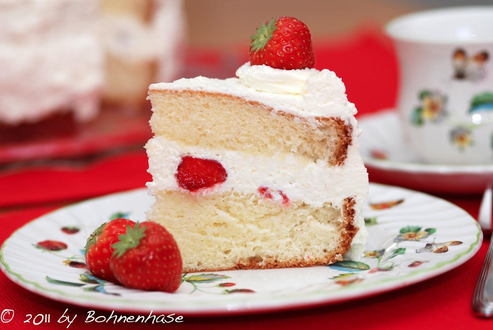 Strawberry Christmas Cake