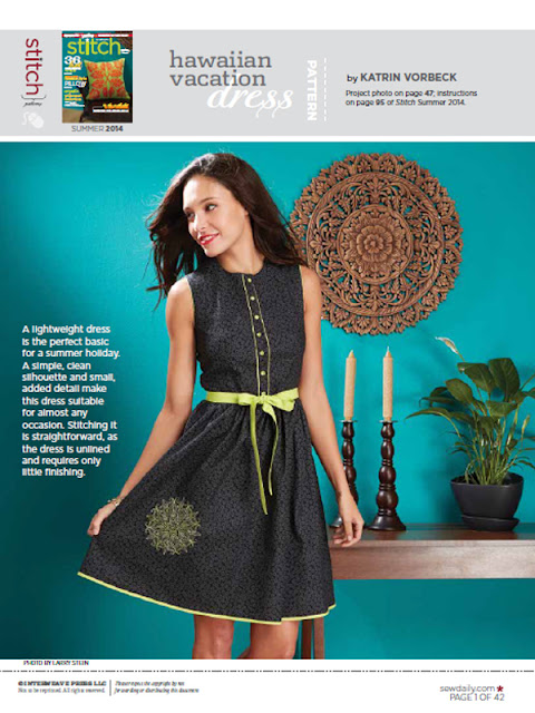 Hawaiian Vacation dress - mein Kleid im Stitch Magazine @frauvau.blogspot.de
