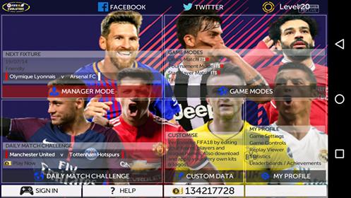 تحميل لعبة فيفا 18 للموبايل بحجم 287 ميجا من ميديا فاير