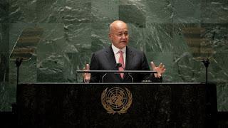 صالح يدعو المجتمع الدولي لمساعدة العراق باسترداد أمواله المهرّبة