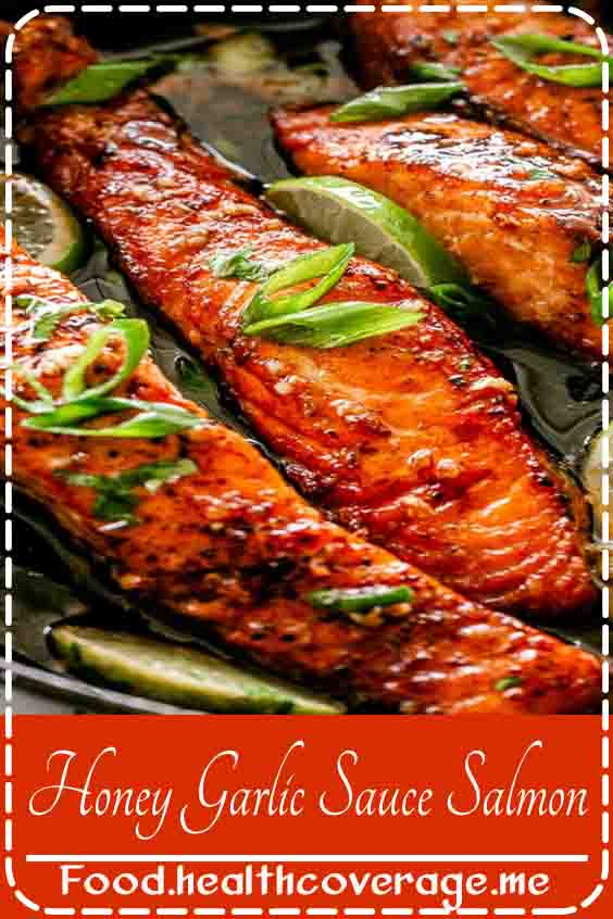 Crispy, tender and juicy salmon fillets pan-fried in the most delicious honey garlic sauce.