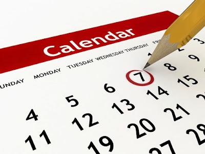 Kalender hitungan haid bulanan