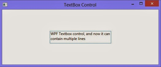 How to use Multiline textbox control in WPF XAML