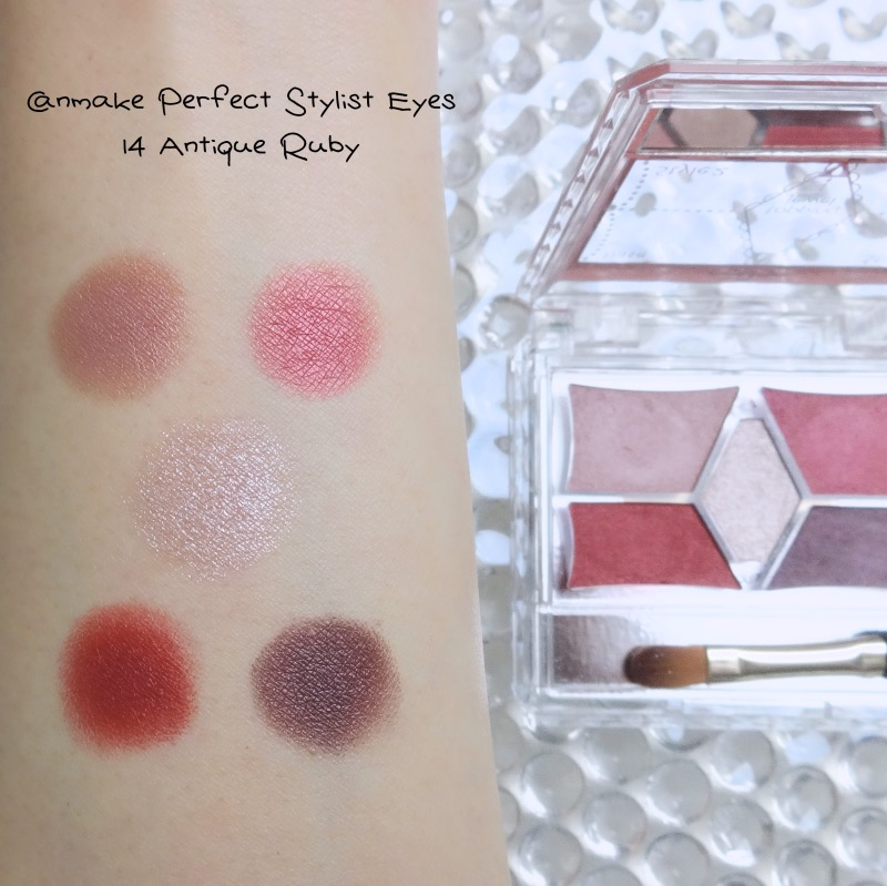 Canmake Perfect Sytlist Eyes 14 Antique Ruby swatch