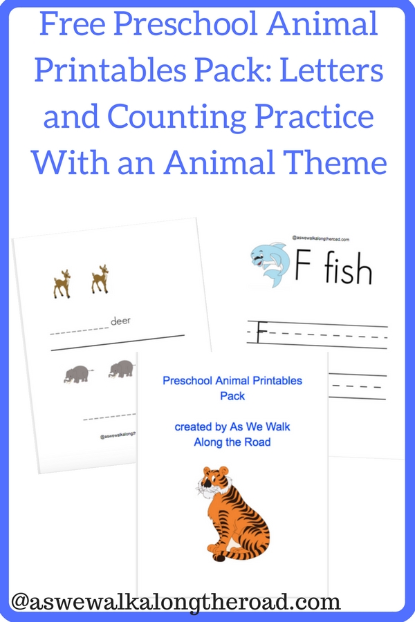 Free preschool zoo printables