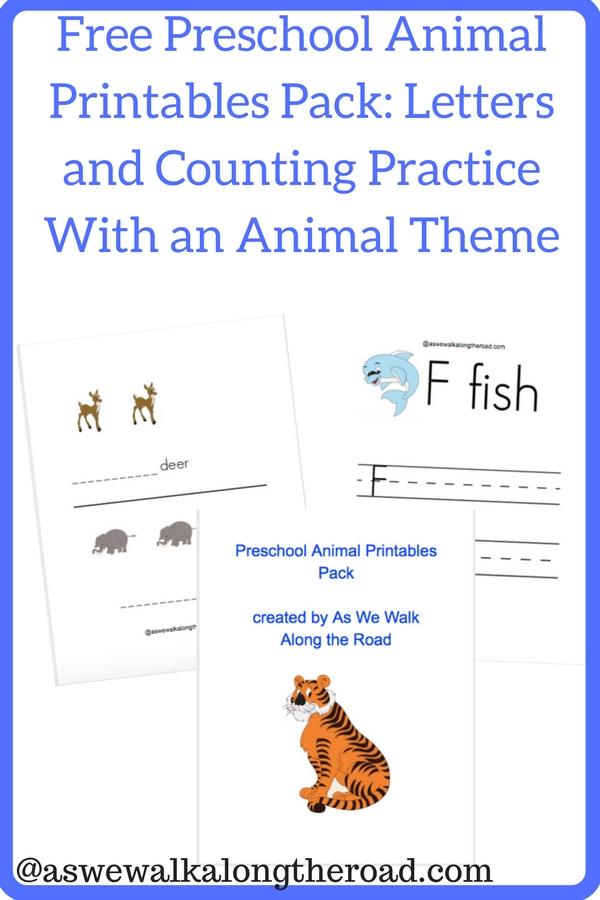 Free preschool zoo printables