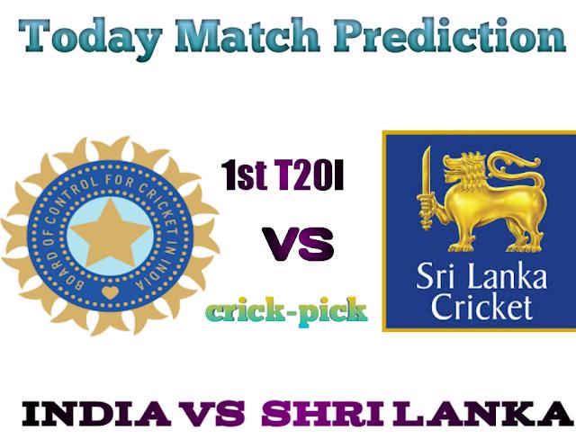India Vs Shri Lanka-Today Match Prediction 1st T20I-Who Will Win Today Match