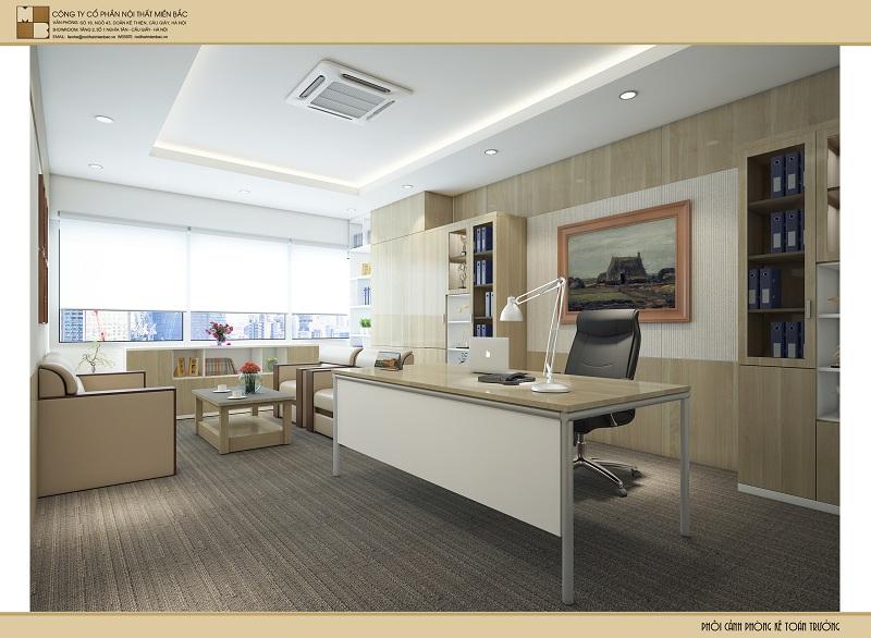 Thiết kế nội thất tại Hà Nội không gian phòng kế toán sang trọng