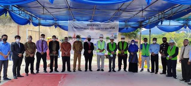 Bupati Natuna Menghadiri Peletakan Batu Pertama  Pembangunan Gereja HKBP Ranai