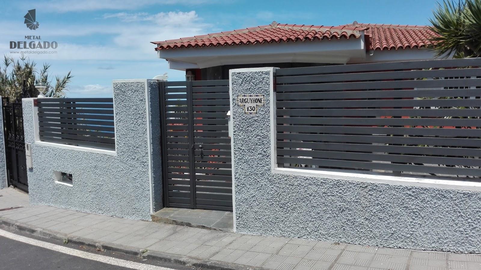 Puertas garaje tenerife cerramiento exteriores de dise o - Cerramientos de patios exteriores ...