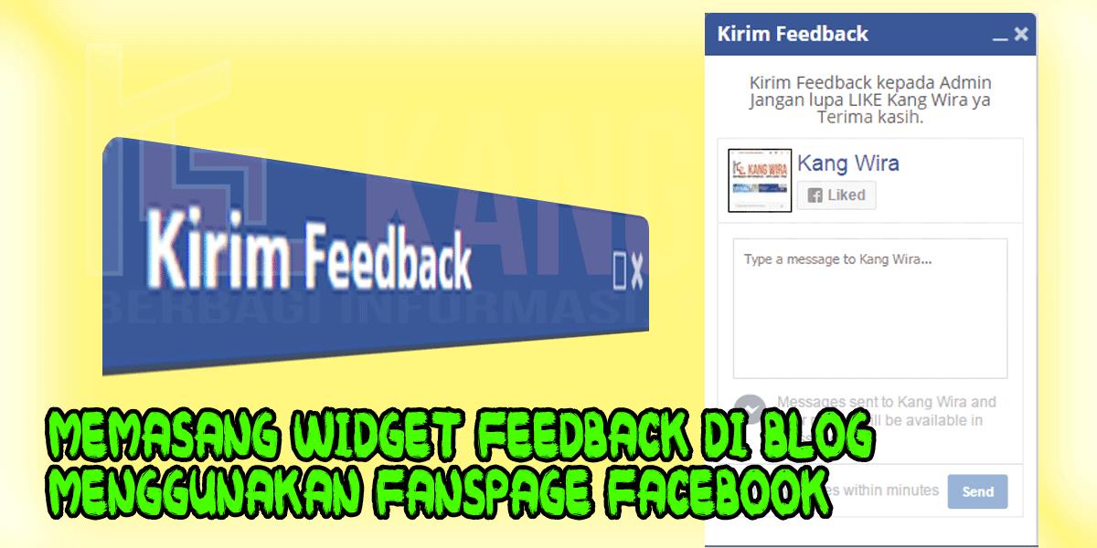 Cara Mudah Memasang Widget Feedback Di Blog Menggunakan Fanspage Facebook