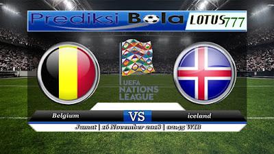 Prediksi pertandingan Belgia vs Islandia 16 November 2018