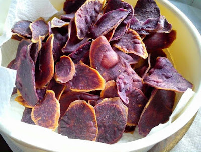 Purple sweet potato chips recipe