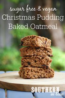 Vegan Christmas Pudding Baked Oatmeal Recipe
