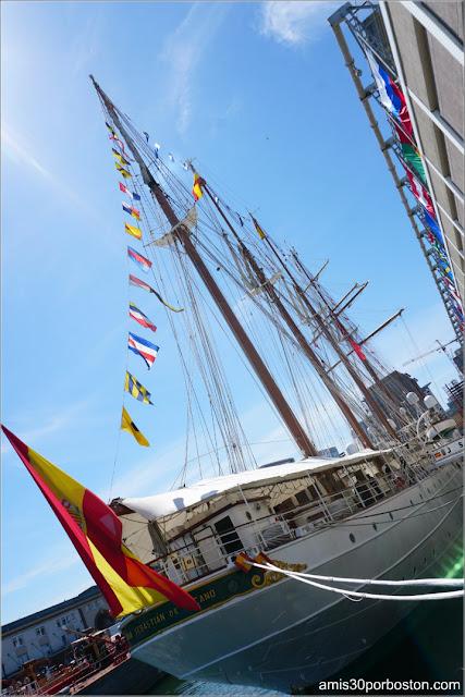 Juan Sebastián de Elcano en el Puerto de Boston