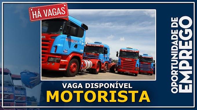 TRANSPES ABRE VAGAS PARA MOTORISTA CARRETEIRO