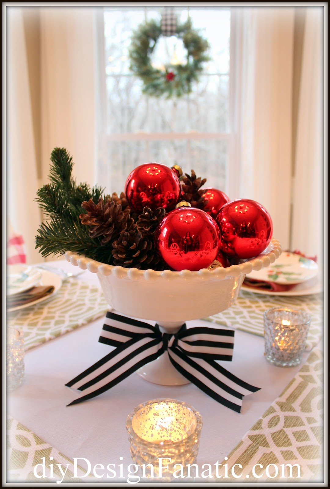 diy Design Fanatic: The Breakfast Room Is Ready For Christmas