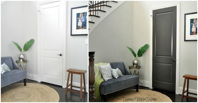 Honey We Re Home Black Gray Painted Interior Doors