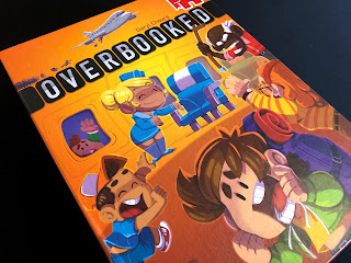 The box for Overbooked, showing some of the fantastic artwork.