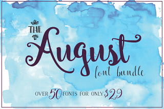 August font bundle