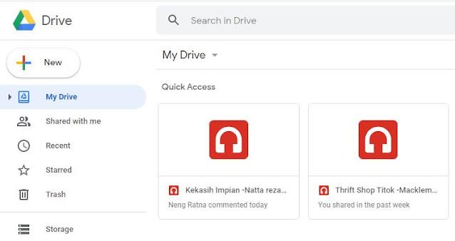 google drive izin hak akses