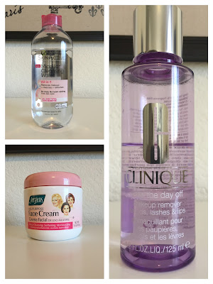 Jergens All purpose face cream, Garnier Micellar Cleansing water, and clinique take the day off makeup remover Reviewed