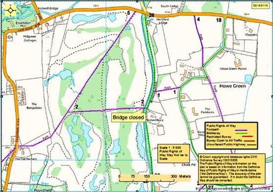 Map courtesy of Herts Co Co