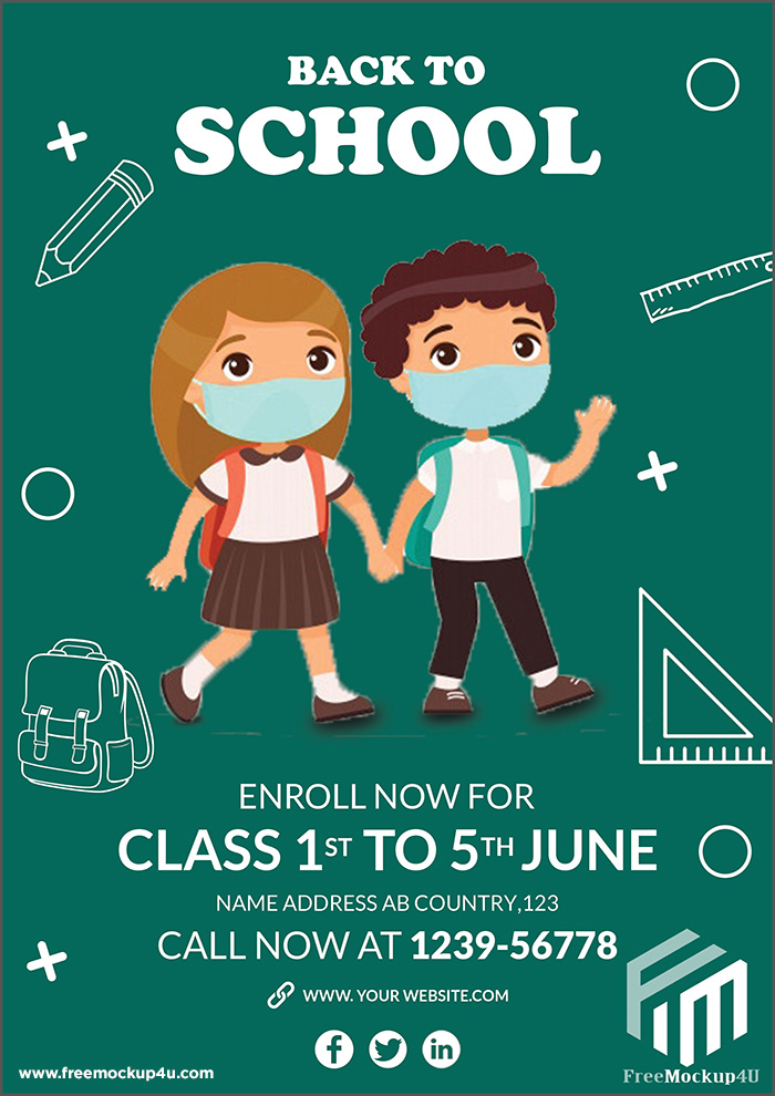 Pikbest- Back To School Flyer Design Templates PSD
