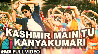 Kashmir Main Tu Kanyakumari Song Hindi Lyrics !! Chennai Express !! Shahrukh Khan !! Deepika Padukone !!