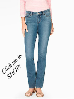 Talbots straight leg jeans Barge Wash