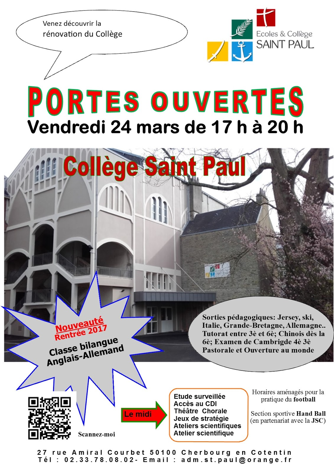 Coll ge saint paul for Porte ouverte patrouille de france salon