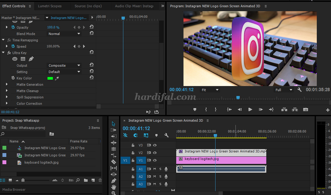 Cara membuat green screen di adobe premiere cc